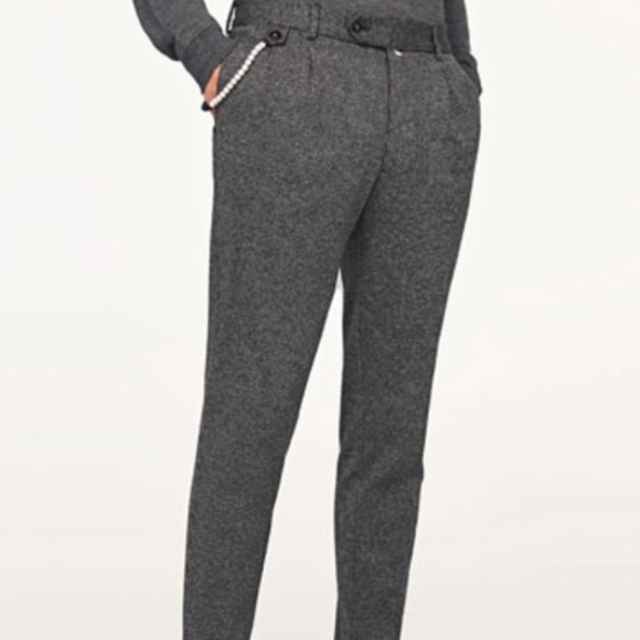 56b93301 Zara Pants | Man Wool Blend Gray Trousers | Poshmark